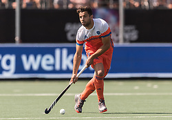 Valentin Verga of The Netherlands during the Champions Trophy match between the Netherlands and India on the fields of BH&BC Breda on June 30, 2018 in Breda, the Netherlands