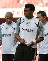 Photo: Steve Bond.<br />Arsenal v Derby County. The FA Barclays Premiership. 22/09/2007. Giles Barnes warming up at the Emirates Stadium
