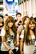 Young Japanese in Dotonburi.