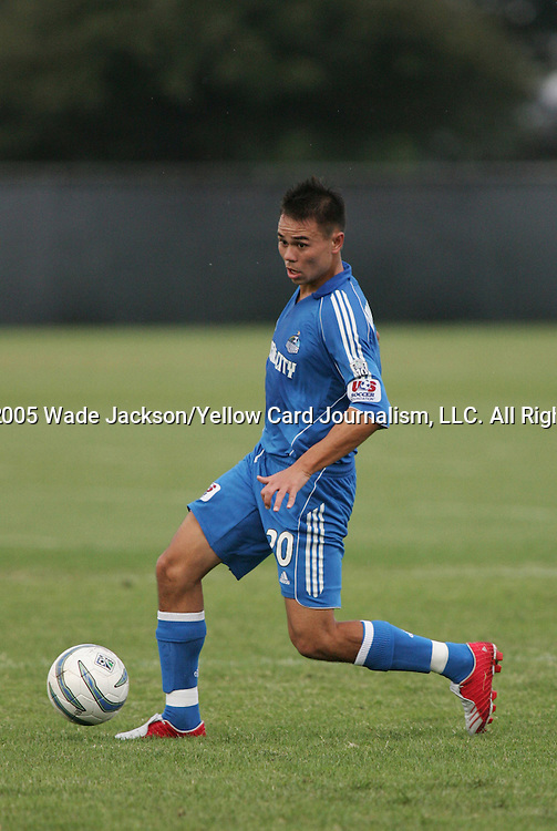 """18 September 2005, John Minagawa-Webster playing for the Wizards Reserves.  The """"Reserve"""" team of the MLS Kansas City Wizards dominated the Galaxy Reserves with a convincing win of 4-2 at the practice facility at Arrowhead Stadium, Kansas City, Missouri."""