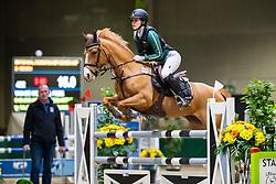 Van De Winckel Febe, BEL, O-Bless van de Vondelhoeve<br /> Nationaal Indoor Kampioenschap Pony's LRV <br /> Oud Heverlee 2019<br /> © Hippo Foto - Dirk Caremans<br /> 09/03/2019