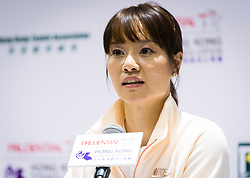 October 9, 2018 - Li Na of China talks to the media at the 2018 Prudential Hong Kong Tennis Open WTA International tennis tournament (Credit Image: © AFP7 via ZUMA Wire)