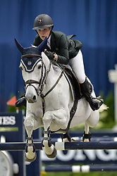 October 27, 2017 - Washington, DC, U.S - AMANDA DERBYSHIRE, riding Lady Maria BH, competes in the International Jumper Speed Final held at the Capital One Arena in Washington, DC. (Credit Image: © Amy Sanderson via ZUMA Wire)