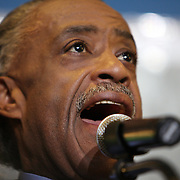 Reverend Al Sharpton speaks on stage during a rally for the shooting of Trayvon Martin on Thursday, March 22, 2012 at Fort Mellon Park in Sanford, Florida. Sharptons mother died the same morning as the rally. (AP Photo/Alex Menendez) Trayvon Martin rally in Sanford, Florida.