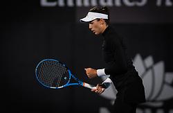 January 7, 2019 - Sidney, AUSTRALIA - Garbine Muguruza of Spain in action during her first round match at the 2019 Sydney International WTA Premier tennis tournament (Credit Image: © AFP7 via ZUMA Wire)