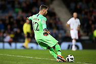 Portugal goalkeeper Claudio Ramos (12) (Tondela)  during the Friendly international match between Scotland and Portugal at Hampden Park, Glasgow, United Kingdom on 14 October 2018.