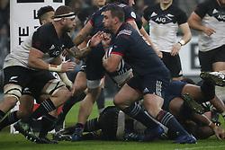 France's Louis Picamoles battles New-Zealand's Luke Romano during a rugby friendly Test match, France vs New-Zealand in Stade de France, St-Denis, France, on November 11th, 2017. France New-Zealand won 38-18. Photo by Henri Szwarc/ABACAPRESS.COM