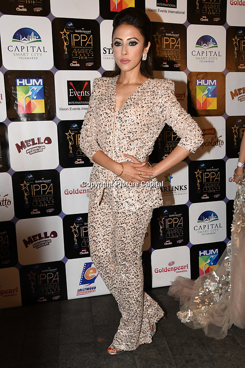 Momal Sheikh is a Pakistani actress arrives at the Annual International Pakistan Prestige Awards (IPPA) at Indigo at The O2 on 9th September 2018, London, UK.