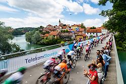 Peleton over Kandijski bridge at Novo Mesto during the 5th Stage of 27th Tour of Slovenia 2021 cycling race between Ljubljana and Novo mesto (175,3 km), on June 13, 2021 in Slovenia. Photo by Matic Klansek Velej / Sportida