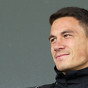 Sonny Billi Williams, New Zealand, during the All Black's Press Conference at Smart Stadium, Auckland, in preparation for the Rugby World Cup Final against France at the IRB Rugby World Cup tournament, Auckland, New Zealand. 18th October 2011. Photo Tim Clayton...