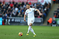 Stephen Kingsley of Swansea city in action.  Premier league match, Swansea city v Manchester Utd at the Liberty Stadium in Swansea, South Wales on Sunday 6th November 2016.<br /> pic by  Andrew Orchard, Andrew Orchard sports photography.