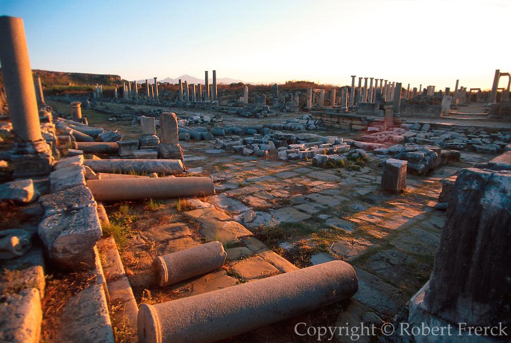 TURKEY, GREEK AND ROMAN Perge; avenue leading to acropolis