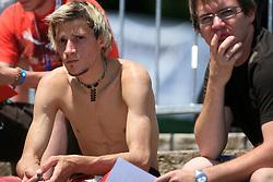 Robert Kranjec as a spectator at FIS Continental cup Ski-jumping Summer Kranj, on July 6, 2008, Kranj, Slovenia. (Photo by Vid Ponikvar / Sportal Images)<br /> <br /> / Sportida)