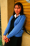 ECUADOR, QUITO, EDUCATION student in New Town area