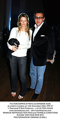 The HON.SOPHIA AITKEN and BROOSK SAIB, at a ball in London on 15th December 2003.PPP 47