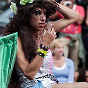 NLD/Amsterdam/20120804 - Canalparade tijdens de Gaypride 2012, Hollandse namaak Amy Winehouse