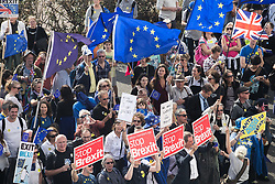 © Licensed to London News Pictures . 24/09/2017. Brighton, UK. Hundreds of take part in a Stop Brexit march and rally passed the Brighton Centre where the Labour Party are holding their annual conference . Protesters won't the results of the EU exit referendum to be nullified . The first day of the Labour Party Conference in and around The Brighton Centre . Photo credit: Joel Goodman/LNP