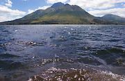 A mountain lake near Otavalo, Ecuador.
