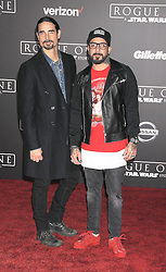 December 10, 2016 - Los Angeles, California, United States - December 10th 2016 - Los Angeles California USA - Singer KEVIN RICHARDSON, Singer AJ MCLEAN at the World Premiere for ''Rogue One Star Wars'' held at the Pantages Theater, Hollywood, Los Angeles  CA (Credit Image: © Paul Fenton via ZUMA Wire)