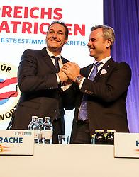 04.03.2017, Messe, Klagenfurt, AUT, FPÖ, 32. Ordentlicher Bundesparteitag, im Bild v.l.n.r. Bundesparteiobmann Heinz Christian Strache und Norbert Hofer // at the 32nd Ordinary Party Convention of the Freiheitliche Partei Oesterreich (FPÖ) in Klagenfurt, Austria on 2017/03/04. EXPA Pictures © 2017, PhotoCredit: EXPA/ Wolgang Jannach