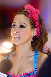 Rachel Stevens gives an interview during the  Strictly Come Dancing Photo call at the  MEN Arena 21 January 2009 © Paul David Drabble