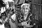 Refugees from the war between the FMLN guerillas and government forces. The civil war that plagued this small Central American nation from 1979 to 1992 killed more than 78,000 people - many civilians. The government - backed by the United States - was notorious for death squads that 'disappeared' civilians.