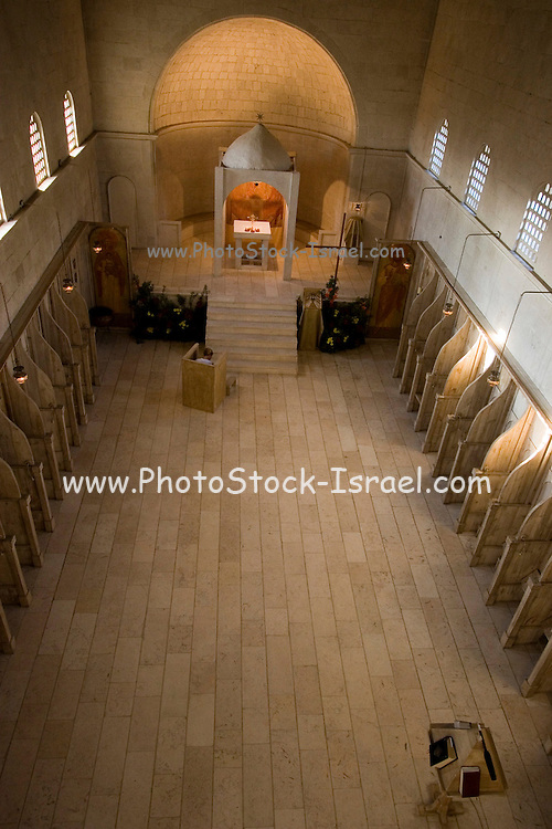 Interior of the Beit Jamal Monastery<br /> The Salesian monastery of Beit Jamal was originally established as an agricultural school in 1881 and later operated as a medical facility. While there is a small group of nuns at Beit Jamal ? they do not belong to the Salesian Sisters, but rather to the Sisters of Bethlehem, of the Assumption of the Virgin and of Saint Bruno. These nuns have taken a vow of silence.