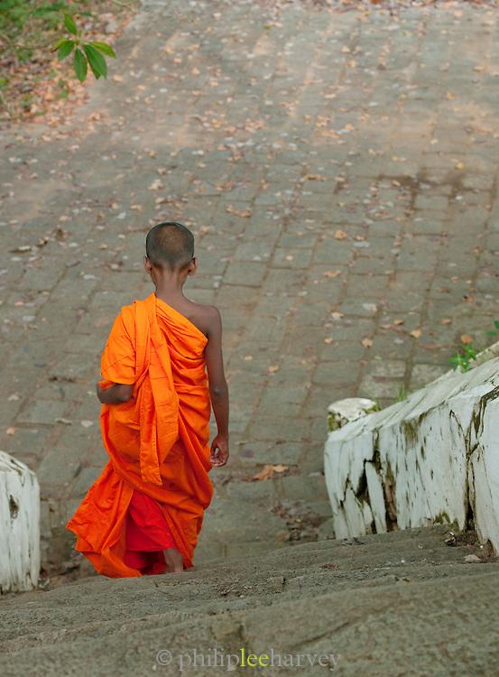 Young Buddhist monk, Mulkirigala Monastery, Sri Lanka