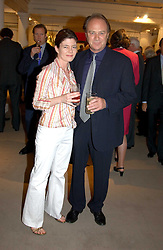 Actor CHRISTOPHER CAZENOVE and ISABEL DAVIS at auctioneers Sotheby's Summer party held at their showrooms in 34-35 New Bond Street, London W1 on 6th June 2005.<br /><br />NON EXCLUSIVE - WORLD RIGHTS