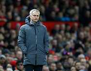 Jose Mourinho manager of Manchester United doesn't look impressed during the English Premier League match at Old Trafford Stadium, Manchester. Picture date: April 4th 2017. Pic credit should read: Simon Bellis/Sportimage