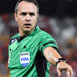 BRISBANE, AUSTRALIA - NOVEMBER 19: Referee Alan Milliner makes a decision during the round 7 Hyundai A-League match between the Brisbane Roar and Sydney FC at Suncorp Stadium on November 19, 2016 in Brisbane, Australia. (Photo by Patrick Kearney/Brisbane Roar)
