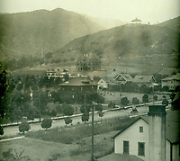 1910 Rollin B. Lane residence under construction. Today, it is the home of the Magic Castle on Franklin Ave.
