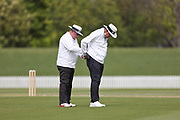 NZ Cricket empires. Canterbury vs. Central Districts Day 2, 1st round of the 2021-2022 Plunket Shield cricket competition at Hagley Oval, Christchurch, on Sunday 24th October 2021.<br /> © Copyright Photo: Martin Hunter/ www.photosport.nz