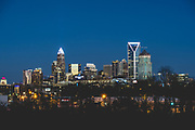 General view of uptown Charlotte.