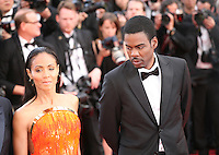 Jada Pinkett Smith and Chris Rock at the gala screening Madagascar 3: Europe's Most Wanted at the 65th Cannes Film Festival. On Friday 18th May 2012 in Cannes Film Festival, France.