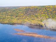 Aerial view of  the Wisconsin River.