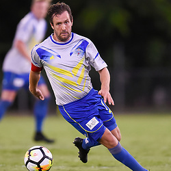 BRISBANE, AUSTRALIA - JANUARY 8: Michael Angus of the Strikers in action during the Kappa Silver Boot Group A match between Brisbane Strikers and Eastern Suburbs on January 8, 2017 in Brisbane, Australia. (Photo by Patrick Kearney)