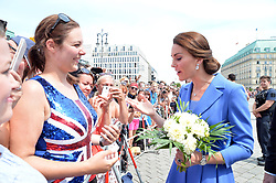 July 19, 2017 - Berlin, Germany - Duchess Catherine, Lena Obschinsky (BILD-Reporterin).Prince William and Catherine Duchess of Cambridge at the Brandenburg Gate, Berlin, Germany - 19 Jul 2017.Credit: MichaelTimm/face to face (Credit Image: © face to face via ZUMA Press)
