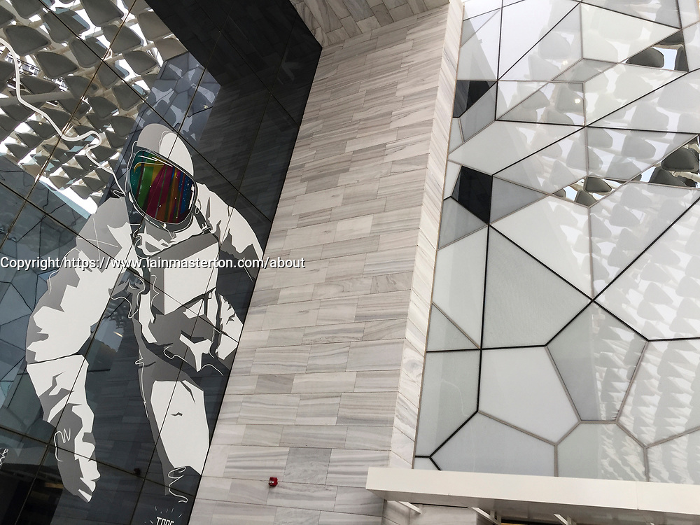 View of the new Sheikh Abdullah Al Salem Cultural Centre and museums (opened March 2018) in Kuwait City, Kuwait