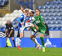 Huddersfield Town's Lewis O'Brien battles with Preston North End's Brad Potts<br /> <br /> Photographer Dave Howarth/CameraSport<br /> <br /> The EFL Sky Bet Championship - Huddersfield Town v Preston North End - Saturday 24 October 2020 - The John Smith's Stadium - Huddersfield<br /> <br /> World Copyright © 2020 CameraSport. All rights reserved. 43 Linden Ave. Countesthorpe. Leicester. England. LE8 5PG - Tel: +44 (0) 116 277 4147 - admin@camerasport.com - www.camerasport.com