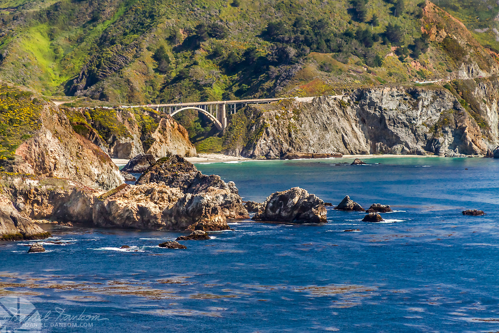 Rocky Creek Bridge on the Big Sur Coast, Highway 1, California