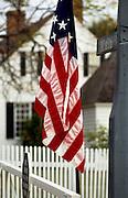 Image of a U.S. flag in Yorktown, Virginia, east coast by Randy Wells