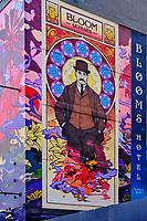 République d'Irlande, Dublin, quartier de Temple Bar, le Blooms hotel du nom du hero de Ulysse de James Joyce // Republic of Ireland; Dublin, the touristic Temple Bar area, the Blooms hotel named after the hero of James Joyce's Ulysses