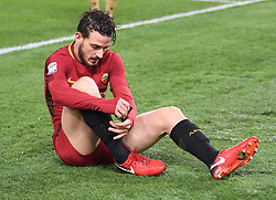 December 16, 2017 - Rome, Italy - Alessandro Florenzi during the Italian Serie A football match between A.S. Roma and Cagliari at the Olympic Stadium in Rome, on december 16, 2017. (Credit Image: © Silvia Lore/NurPhoto via ZUMA Press)