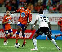 Fotball<br /> Adeccoligaen 2006 <br /> 25.05.2006<br /> Aalesund v hønefoss 5-3<br /> Foto: Richard Brevik - Digitalsport<br /> <br /> Christian Negouai - aalesund<br /> Umaro Bangura - Hønefoss