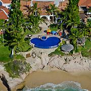Aerial view detail of a home in Palmilla. San Jose del Cabo. Baja California Sur, Mexico.
