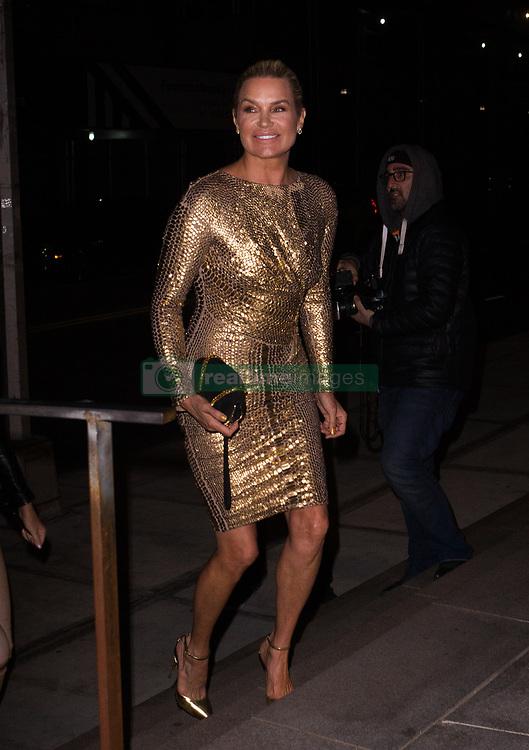 Yolanda Hadid is seen arriving at Gigi's Birthday Party. 23 Apr 2018 Pictured: Yolanda Hadid. Photo credit: TM / MEGA TheMegaAgency.com +1 888 505 6342