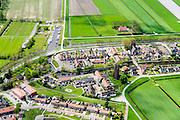 Nederland, Overijssel, Gemeente Steenwijkerland, 07-05-2015; Kuinre, voormalig vissersplaatsje aan de Zuiderzee. Nu grenzend aan de Noordoostpolder.<br /> Former fishing village on the Zuiderzee, bordering on the Northeast polder.<br /> <br /> luchtfoto (toeslag op standard tarieven);<br /> aerial photo (additional fee required);<br /> copyright foto/photo Siebe Swart