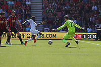 Football - 2017 / 2018 Premier League - AFC Bournemouth vs. Swansea City<br /> <br /> Nathan Dyer of Swansea forces Bournemouth's Asmir Begovic into an early save at Dean Court (Vitality Stadium) Bournemouth <br /> <br /> COLORSPORT/SHAUN BOGGUST