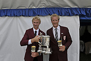 Henley, Great Britain. NZL M2-,  Left, Hamish BOND and Eric MURRAY with the Silver Goblets and Nickalls' Challenge Cup   Finals day. 2009 Henley Royal Regatta. Sunday 05/07/2009 [.Mandatory Credit. Peter Spurrier/Intersport Images]
